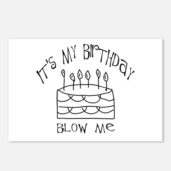birthday blow me Postcards (Package of 8)