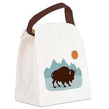 Buffalo Mountains Canvas Lunch Bag