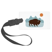 Buffalo Mountains Luggage Tag