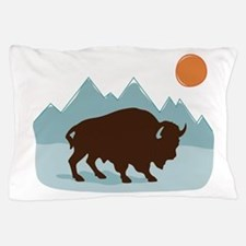Buffalo Mountains Pillow Case