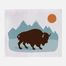 Buffalo Mountains Throw Blanket