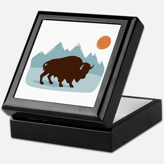 Buffalo Mountains Keepsake Box