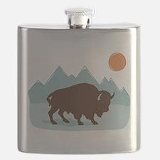 Buffalo Mountains Flask