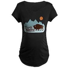 North DAKOTA Maternity T-Shirt