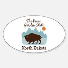 The Peace Garden State North Dakota Decal