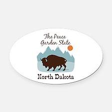 The Peace Garden State North Dakota Oval Car Magne