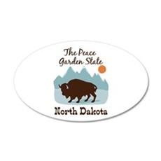 The Peace Garden State North Dakota Wall Decal
