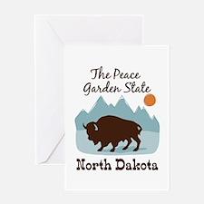 The Peace Garden State North Dakota Greeting Cards