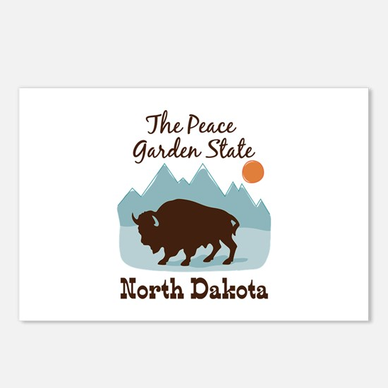 The Peace Garden State North Dakota Postcards (Pac