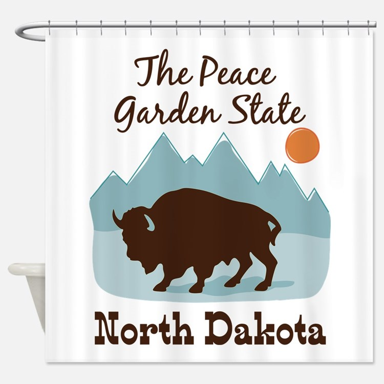 The Peace Garden State North Dakota Shower Curtain
