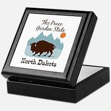 The Peace Garden State North Dakota Keepsake Box