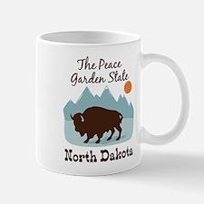 The Peace Garden State North Dakota Mugs