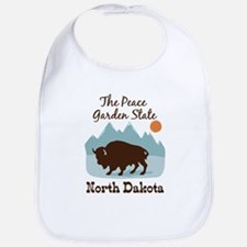 The Peace Garden State North Dakota Bib