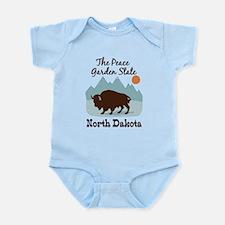 The Peace Garden State North Dakota Body Suit