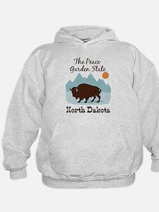 The Peace Garden State North Dakota Hoodie