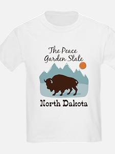 The Peace Garden State North Dakota T-Shirt