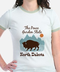 The Peace Garden State North Dakota T-Shirt