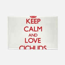 Keep calm and love Cichlids Magnets