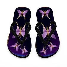 One Big Purple Butterfly2 Flip Flops