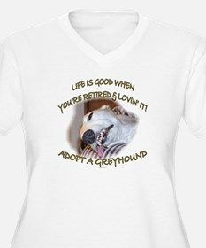 LIFE IS GOOD WOMENS + SIZE WHITE V NECK TEE
