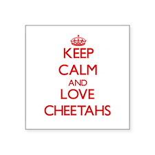 Keep calm and love Cheetahs Sticker