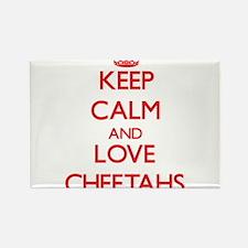 Keep calm and love Cheetahs Magnets