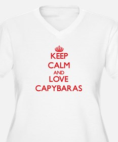 Keep calm and love Capybaras Plus Size T-Shirt