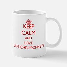 Keep calm and love Capuchin Monkeys Mugs