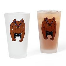 British Bulldog Drinking Glass