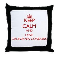 Keep calm and love California Condors Throw Pillow