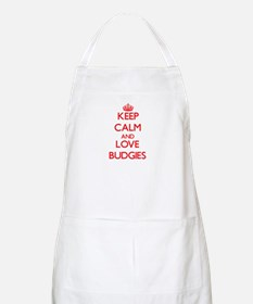 Keep calm and love Budgies Apron