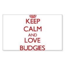 Keep calm and love Budgies Decal