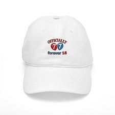 Officially 77 forever 18 Baseball Cap
