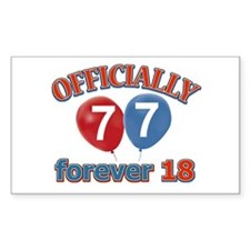 Officially 77 forever 18 Decal