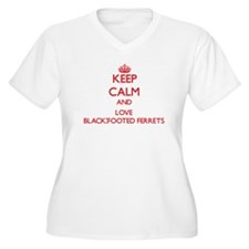 Keep calm and love Black-Footed Ferrets Plus Size