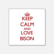 Keep calm and love Bison Sticker