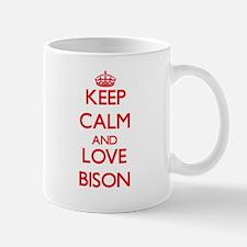 Keep calm and love Bison Mugs