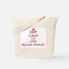 Keep calm and love Beluga Whales Tote Bag