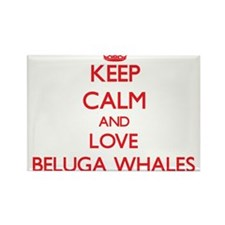 Keep calm and love Beluga Whales Magnets