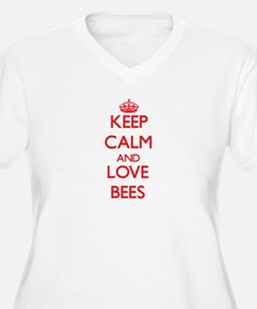 Keep calm and love Bees Plus Size T-Shirt