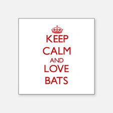 Keep calm and love Bats Sticker