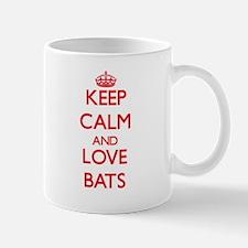 Keep calm and love Bats Mugs