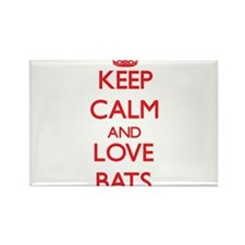 Keep calm and love Bats Magnets