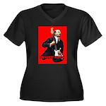 Soviet rock Women's Plus Size V-Neck Dark T-Shirt