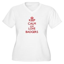 Keep calm and love Badgers Plus Size T-Shirt