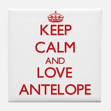 Keep calm and love Antelope Tile Coaster