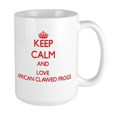 Keep calm and love African Clawed Frogs Mugs