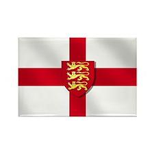 England Three Lions Flag Rectangle Magnet