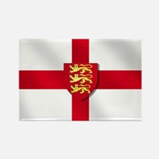 England Three Lions Flag Rectangle Magnet