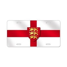 England Three Lions Flag Aluminum License Plate